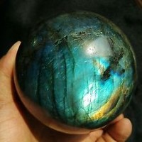 921g AAAA NATURAL Labradorite quartz crystal sphere ball healing W1902