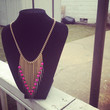Fringe Beaded Necklace  by TwiggyAccessories on Etsy