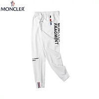 MONCLER 2019 latest men's and women's wild casual pants white