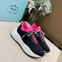 PRADA Women 2020 new Fashion popular Casual Sneakers Sport running Shoes black Size 35-40