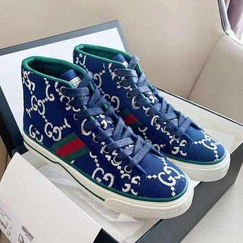 Gucci Men's and women's GG tennis 1977 classic canvas shoes