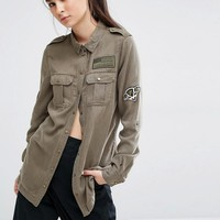 Only | Only Army Patched Shirt at ASOS