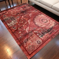 6023 Red Oriental Persian Area Rugs