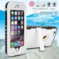 oneCase Protection Case Cover Built-in Kick Stand with Hand Strap & Headphone Adapter for Apple iPhone 6, White