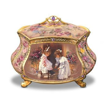 Sandra Kuck My Sister, My Friend Collectible Music Box by The Bradford Exchange