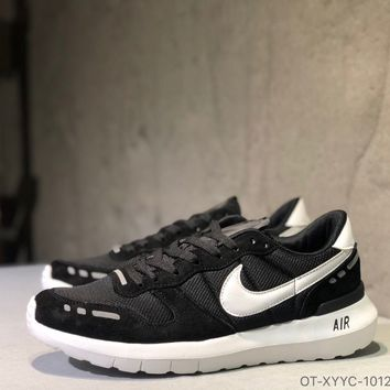 """""""Nike Air Vrtx"""" Unisex Retro Pig Leather Mesh Stitching Multicolor Sneakers Couple Casual Running Shoes"""