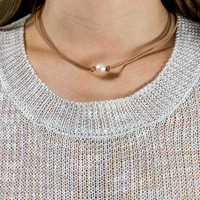 Circle In The Sand Tan Pearl Necklace
