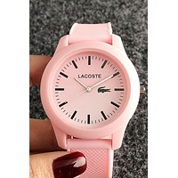 Lacoste new tide brand simple wild candy color casual jelly watch 4