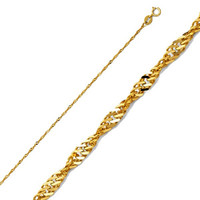 1mm Singapore 18Kts of Gold Plated Chain