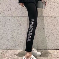balenciaga Fashion Exercise Fitness Gym Yoga Running Leggings Sweatpants