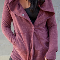 Purple Hooded Double Pocket Hoodie