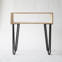 Blue Table, Scandinavian Table, Bedside Table, Mid-Century, Wood, Nightstand, Retro Furniture
