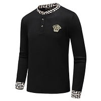 Versace Fashion Men Women Casual Round Collar Knit Sweater Sweatshirt