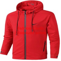 Nike Dri-FIT Mens Training Hoodie Nike Sweater Red