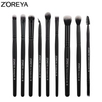 ZOREYA 9pcs MakeUp Brushes For Eye Concealer Eyeshadow Eyeliner Eyeshadow Blending Brush Set 2018 New Model