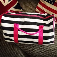 Bags Stripes Korean Gym Travel Bags [11698090639]