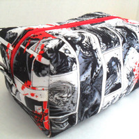 Large The Walking Dead - Zombie -  Boxy Make Up - Toiletry Bag - Zipper Pouch