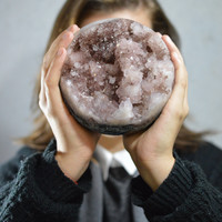 Geode Agate Sphere , rose agate ball, natural agate Ball, solid druzy ball, druzy , stone ball, solid stone ball, agate ball