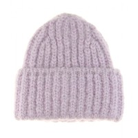 Wool and mohair-blend hat