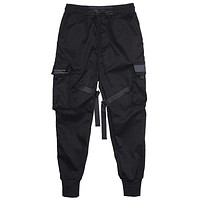 Men Multi-pocket Elastic Waist Design Harem Pant