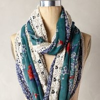 Flocked Scarf by Anthropologie Blue One Size Scarves