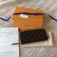 Authentic Louis Vuitton Clemence Fuschia Wallet M60742
