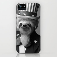 Life as an American Sloth iPhone Case by Kalli McCleary