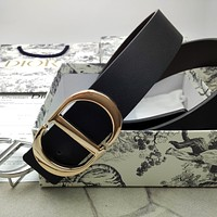 Dior hot sale new CD letter buckle fashion men and women pure color personality belt