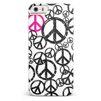 Peace Collage iPhone 5/5s or SE INK-Fuzed Case