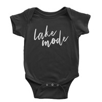 Lake Mode Vacation Beach Infant One-Piece Romper Bodysuit