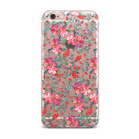 Flower Pink Clear Phone Cases