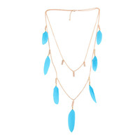 Shiny New Arrival Jewelry Gift Stylish Vacation Summer Double-layered Earrings Set Accessory Necklace [4915772036]