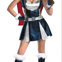 2016 Halloween Supergirl Costumes Fashion Fancy Thor Marvel Sexy Adult Clothes Party Cosplay Dresses For Dancing Superhero