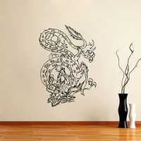 Housewares Vinyl Decal Chinese Dragon Home Wall Art Decor Removable Stylish Sticker Mural Unique Design for Any Room V412