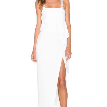 By Johnny Ring Drape Tank in White