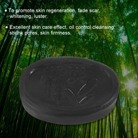 Bamboo 70gBlack Bamboo Charcoal Whitening Handmade Soap Facial Skin Care Acne Treatment Oil Control Whitening Facial Soap Bamboo