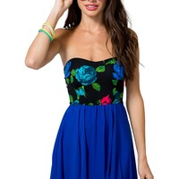 Royal Rose Flare Dress