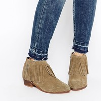 ASOS AROOTS Suede Fringe Ankle Boots