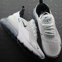 Nike Air Max 270 AH8050-100 WHITE BLACK Sport Running Shoes - Best Online Sale