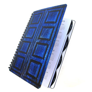 River Song 2014 - 2015 Daily Planner Dr. Who Tardis UpCycled Academic Student Agenda The Doctor