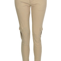 Chesney Utility Style Trouser In Cream