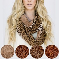 Leopard Print High Quality Fashion Scarves in 3 Colors