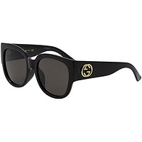 Gucci GG 0142 SA- 001 BLACK / GREY Sunglasses