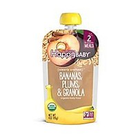 Happy Baby™ 4 oz. Stage 2 Organic Baby Food with Bananas, Plums, and Granola