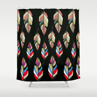 FEATHER REVOLUTION Shower Curtain by Hardkitty