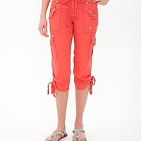 Miss Me Embroidered Cargo Cropped Pant