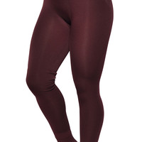 Wine Red Cashmere Stirrup Leggings Design 412