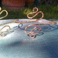 Arm Band Collection - Egyptian Upper Arm Cuff , Armlet -  in copper, silver and brass