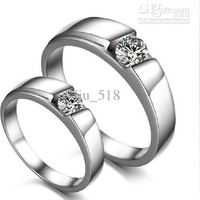 Couple Ring 925 sterling silver rings Couple rings Imitation diamonds Ring
