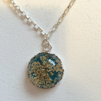 Dried Flowers Pendant Necklace